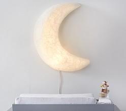 Paper Mache Light Up Moon