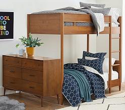 west elm x pbk Mid-Century Single-over-Single Bunk Bed