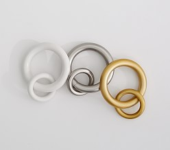 Curtain Round Rings - Set of 10