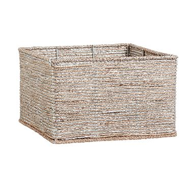 Silver Rope Utility Basket
